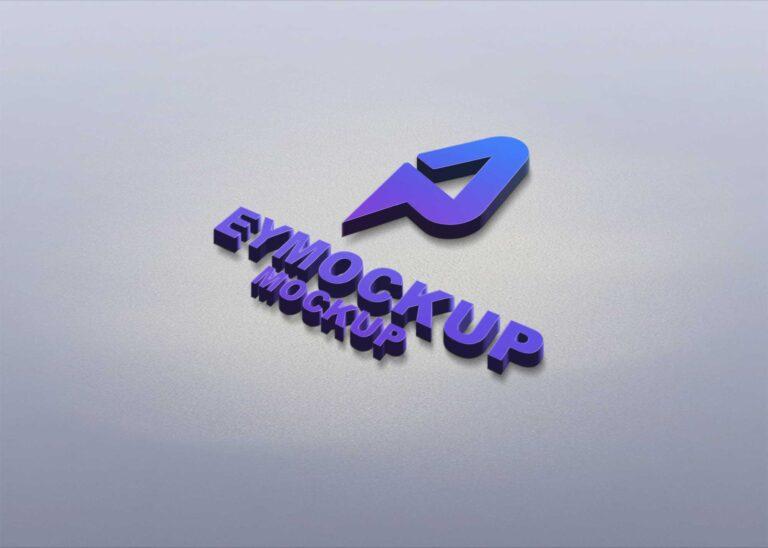 3D Freebies Logo Mockup