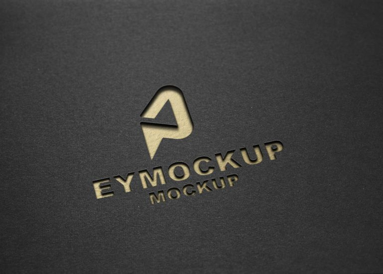 New Freebies Cutout Logo Mockup