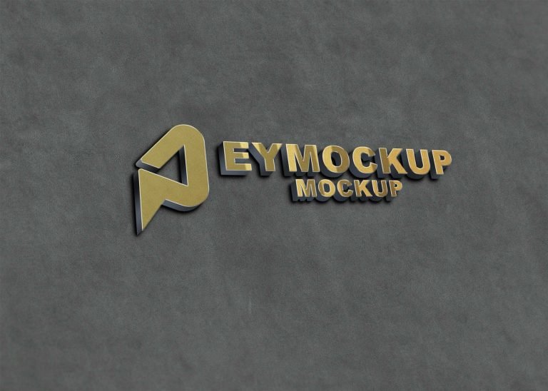 New Golden 3D Logo Mockup