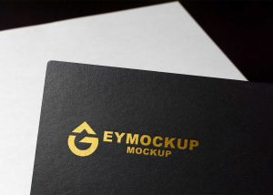 New Paper Luxury Golden Logo Mockup