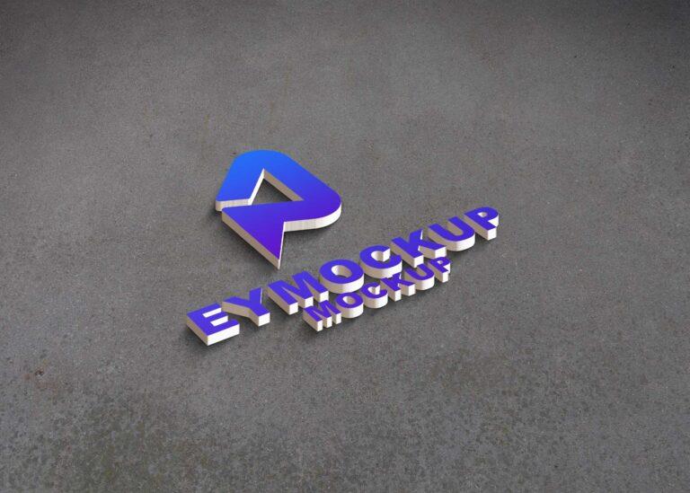 Simple 3D Logo Mockup