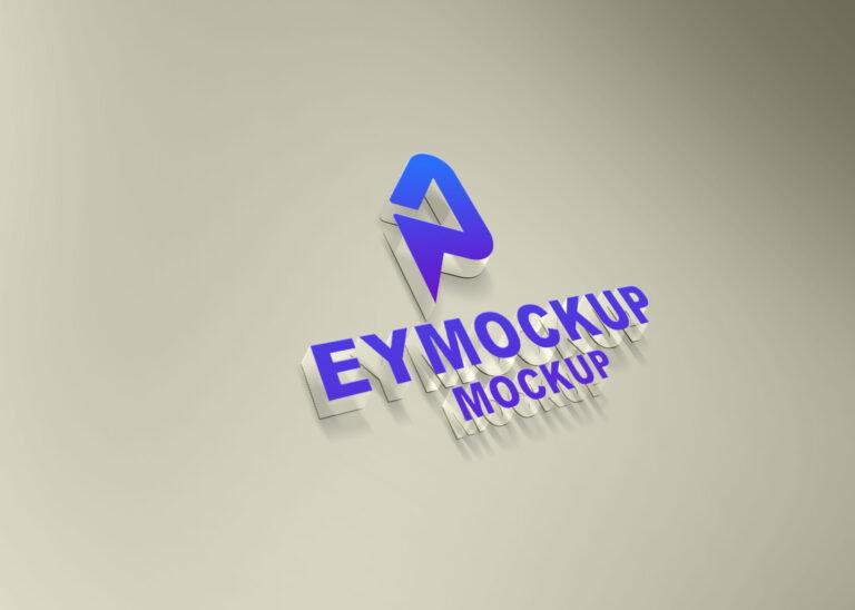 Transparent 3D Logo Mockup