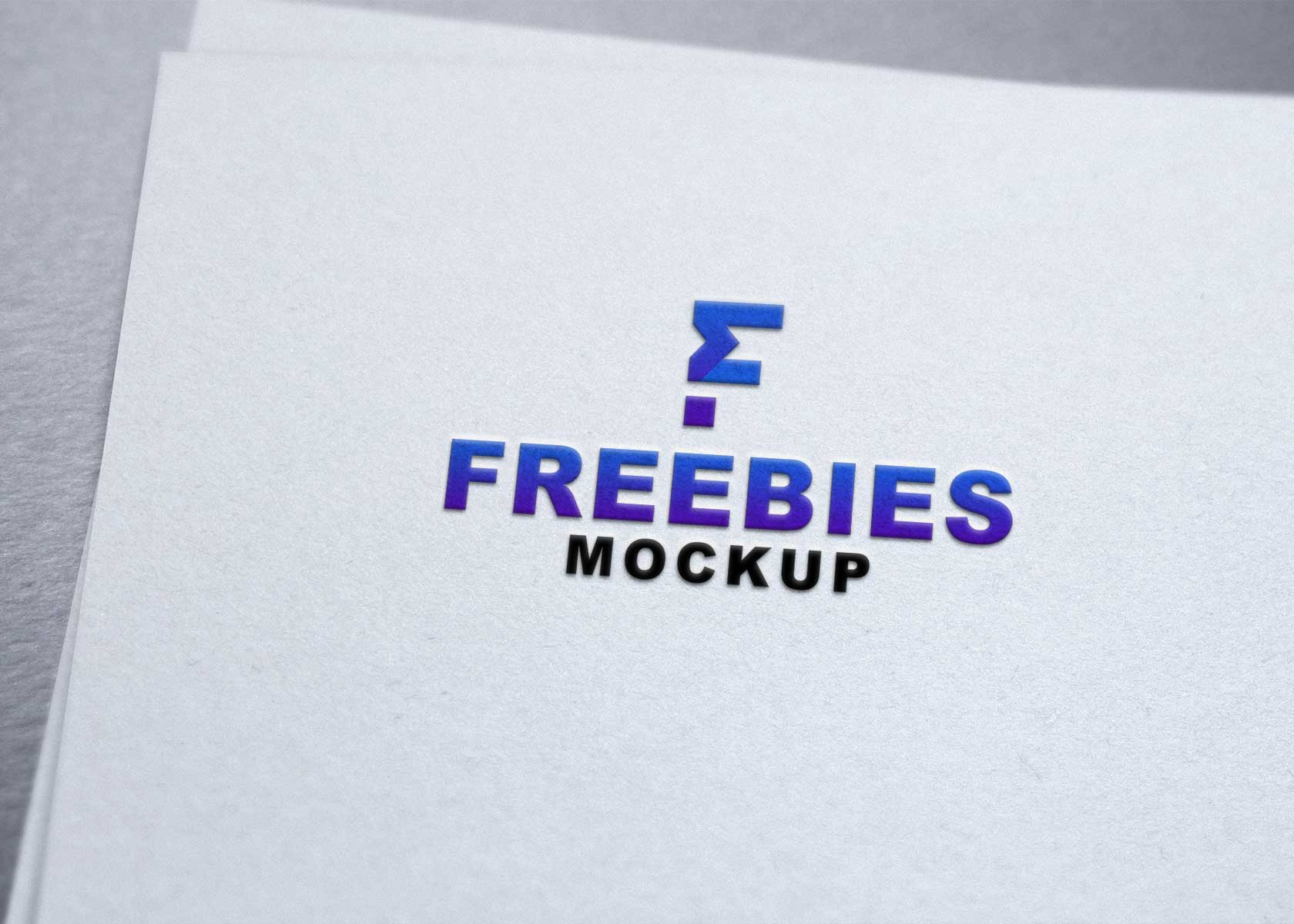 Paper Emboss Logo Mockup