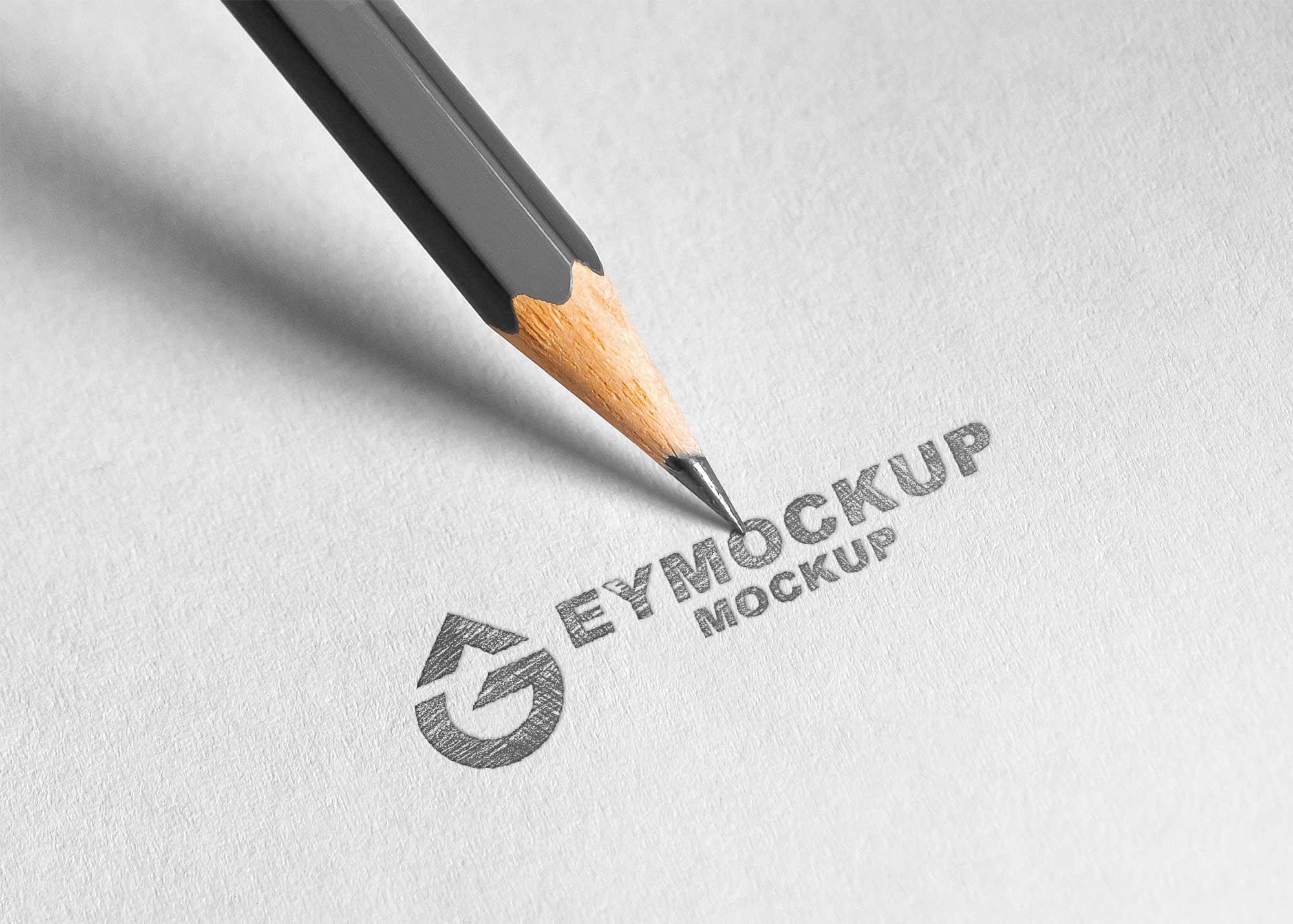Pencil Sketch Logo Mockup