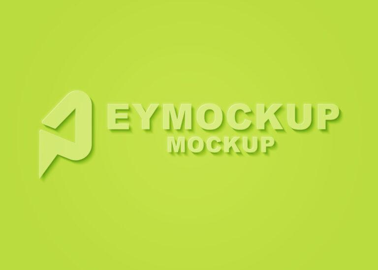 Plain Color Logo Mockup