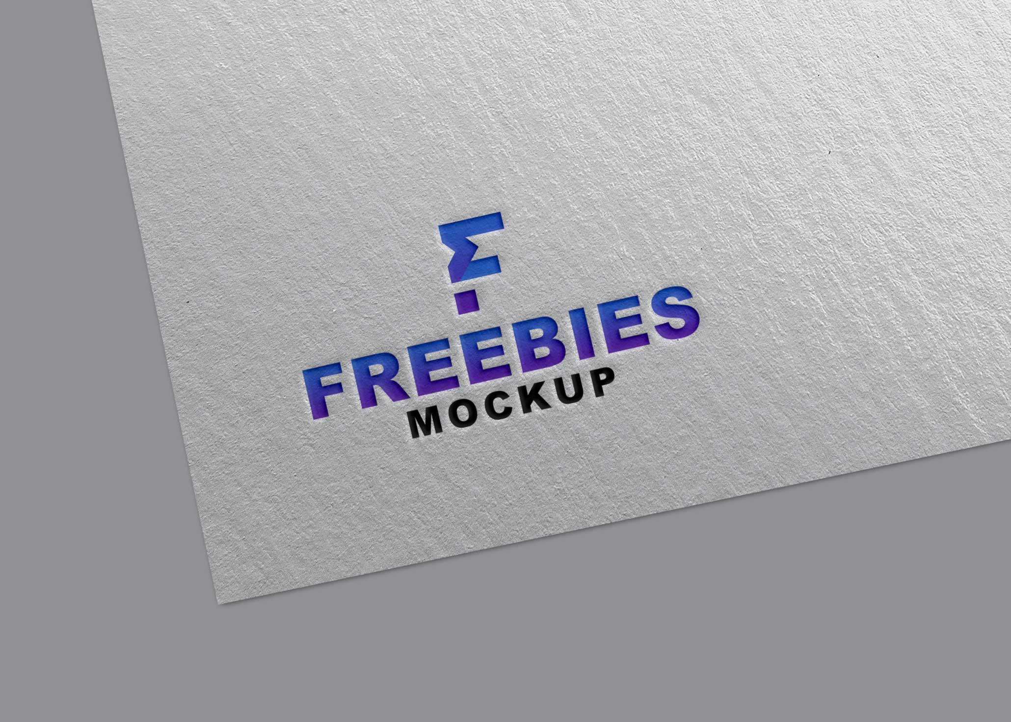 Plain Freebies Logo Mockup 2021