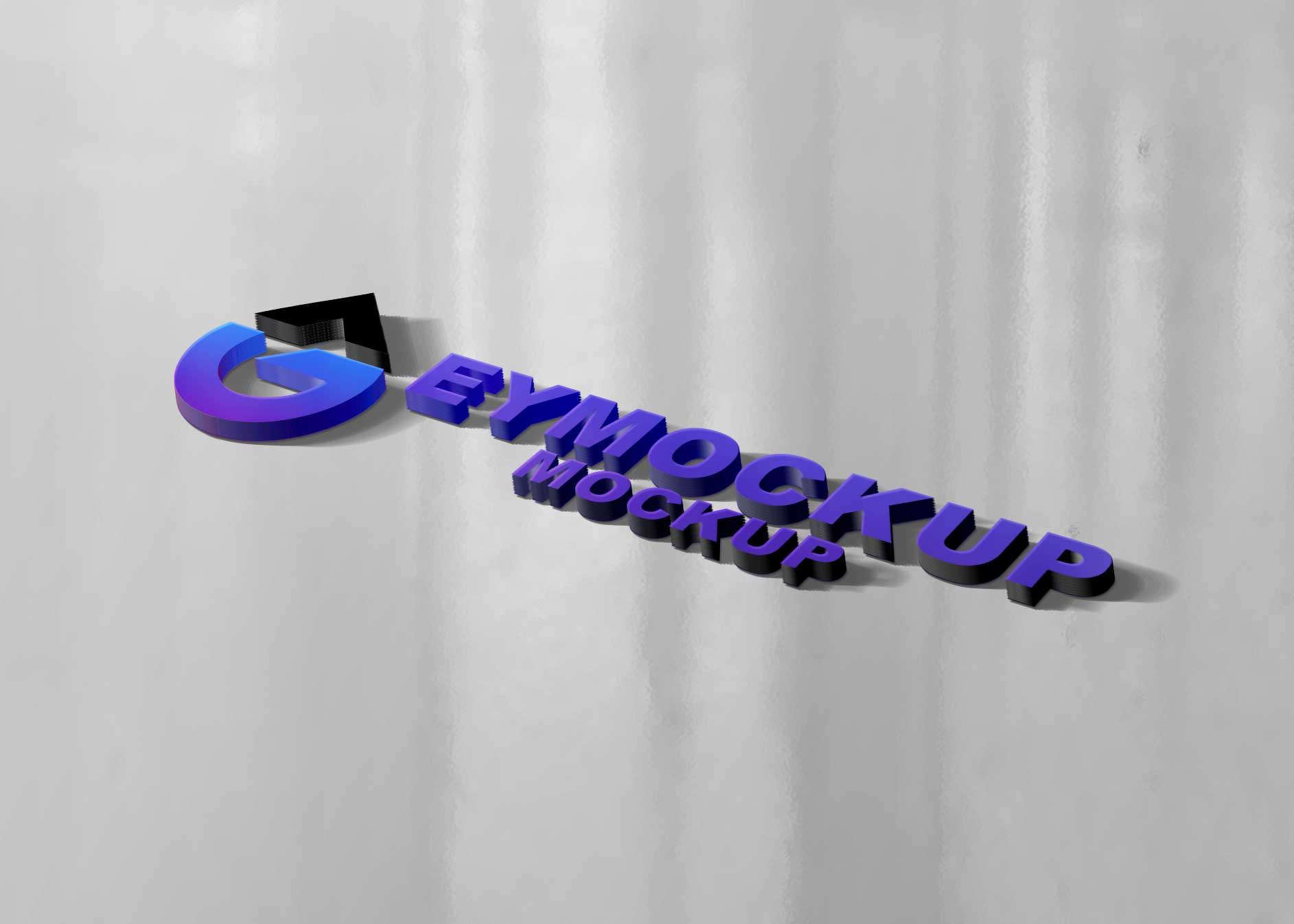 Premium 3D Freebies Logo Mockup