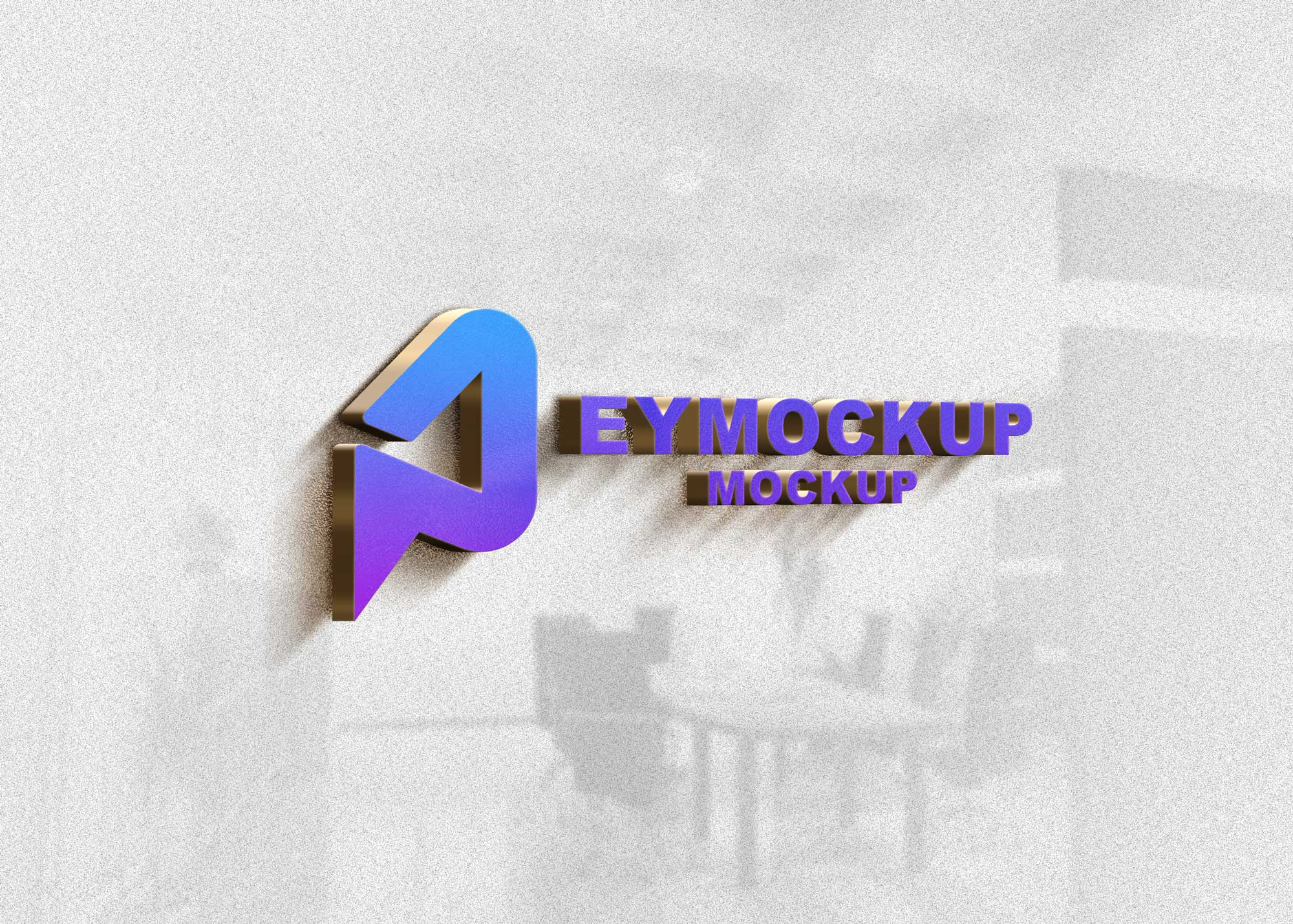 Premium 3D Logo Mockup