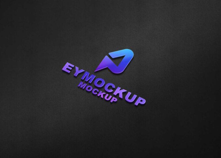 Premium Freebies 3D Shine Logo Mockup