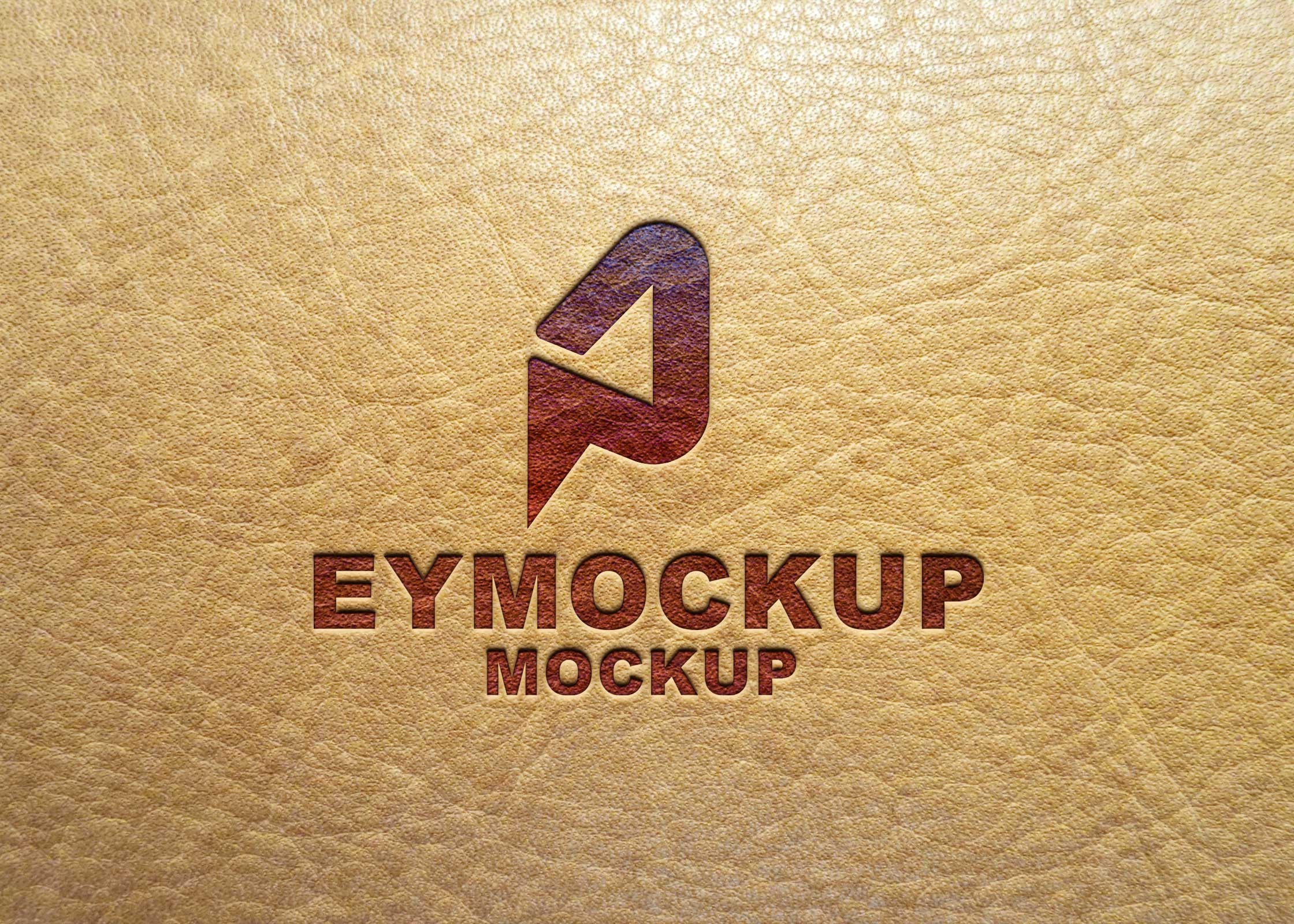 Premium Leather Logo Mockup