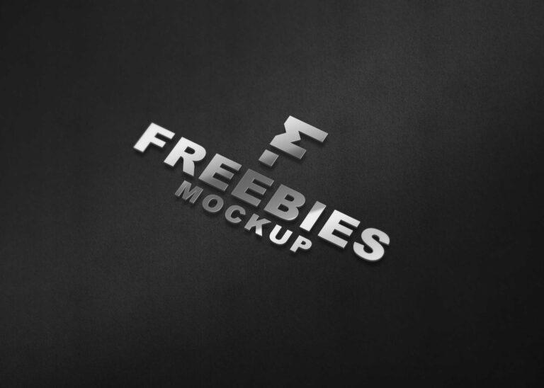 Pure Steel 3D Logo Mockup
