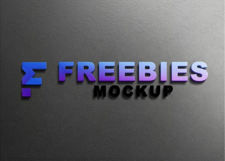 Realistic Freebies Logo Mockup