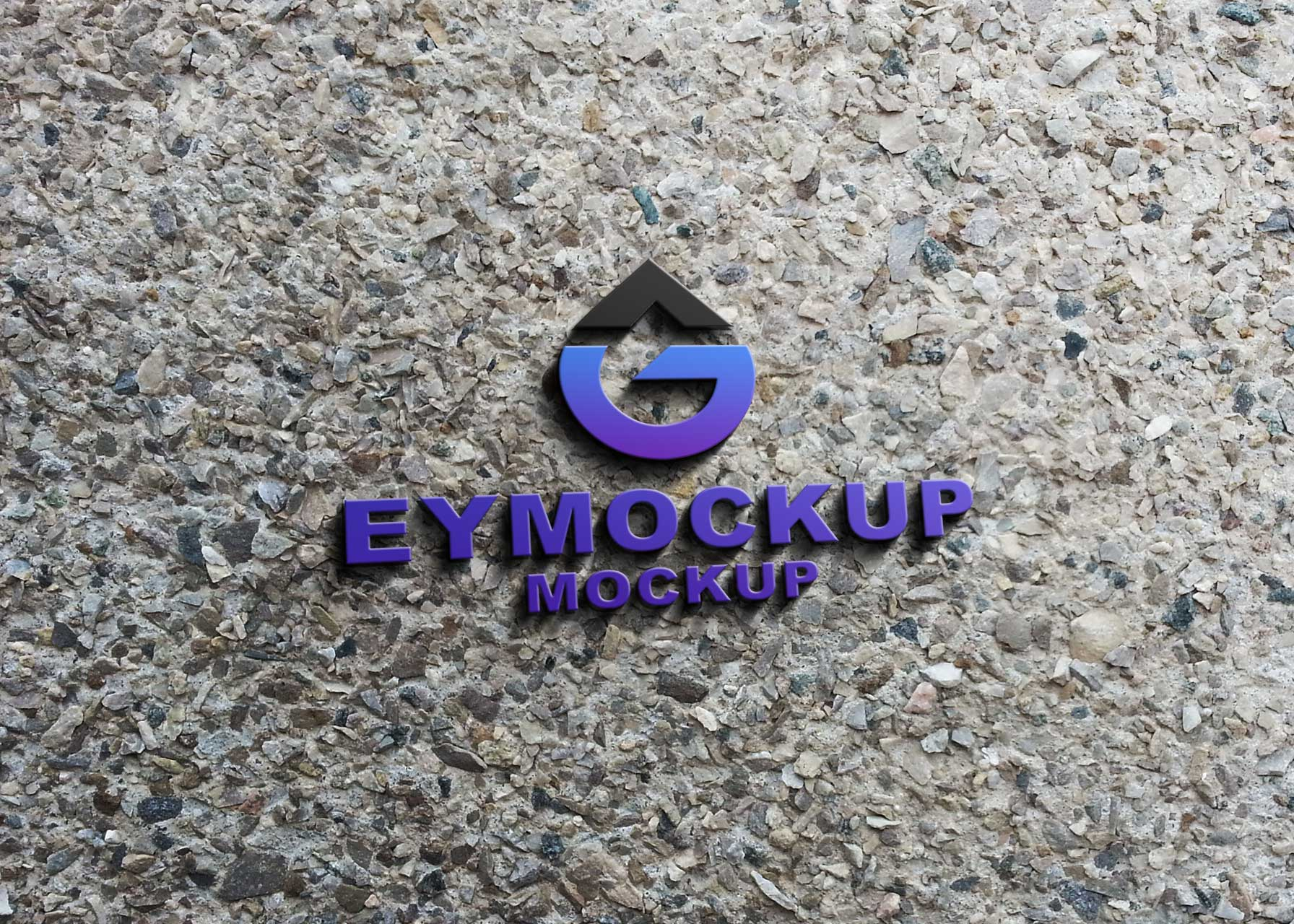 Road 3D Logo Mockup