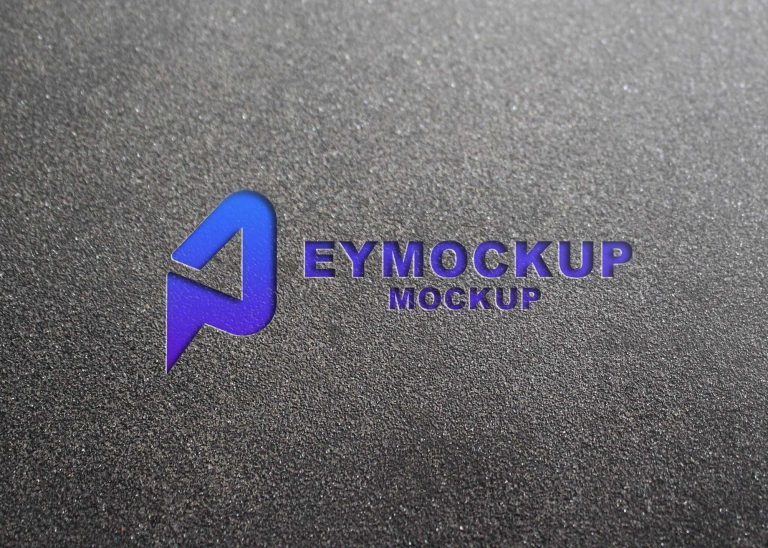 Road Emboss Freebies Logo Mockup