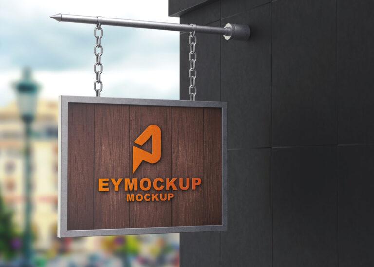 Sign Hanging Logo Mockup