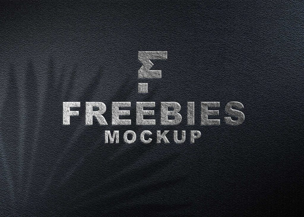 Freebies Silver Logo Mockup
