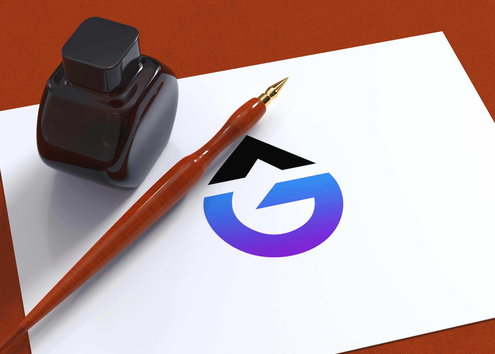 Simple Paper Logo Mockup