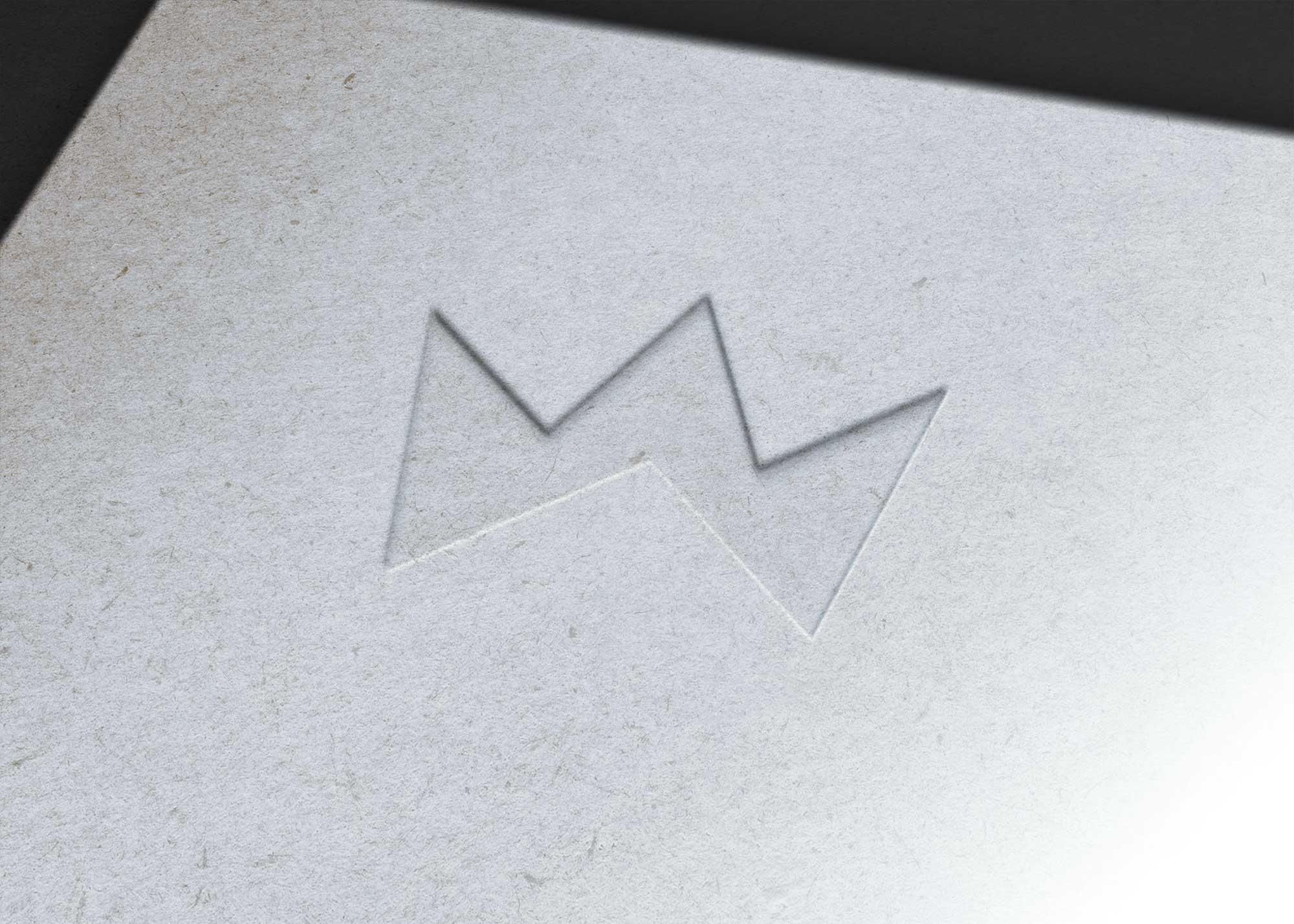 Steel Embross Logo Mockup