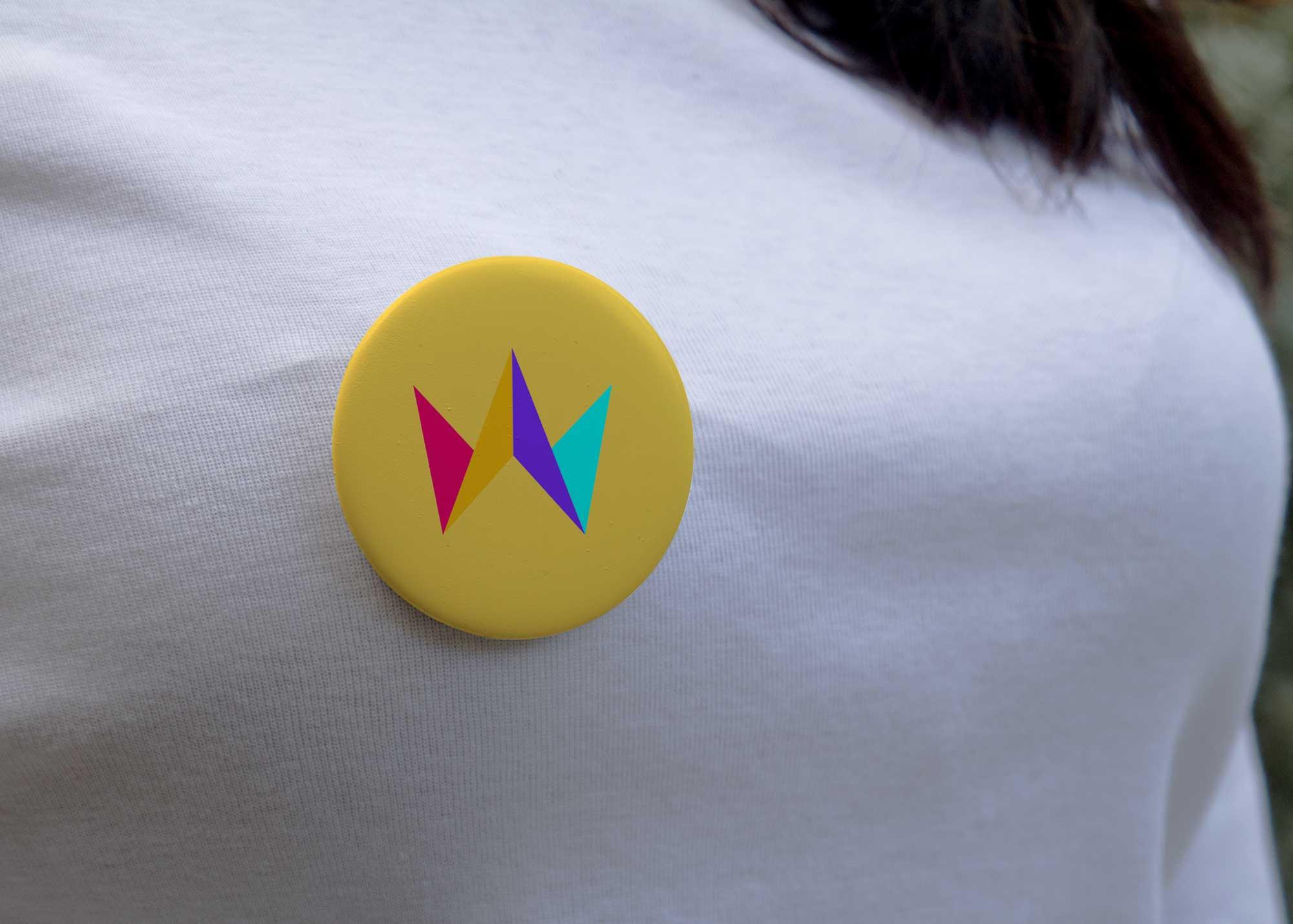 Unique 3D Logo Mockup