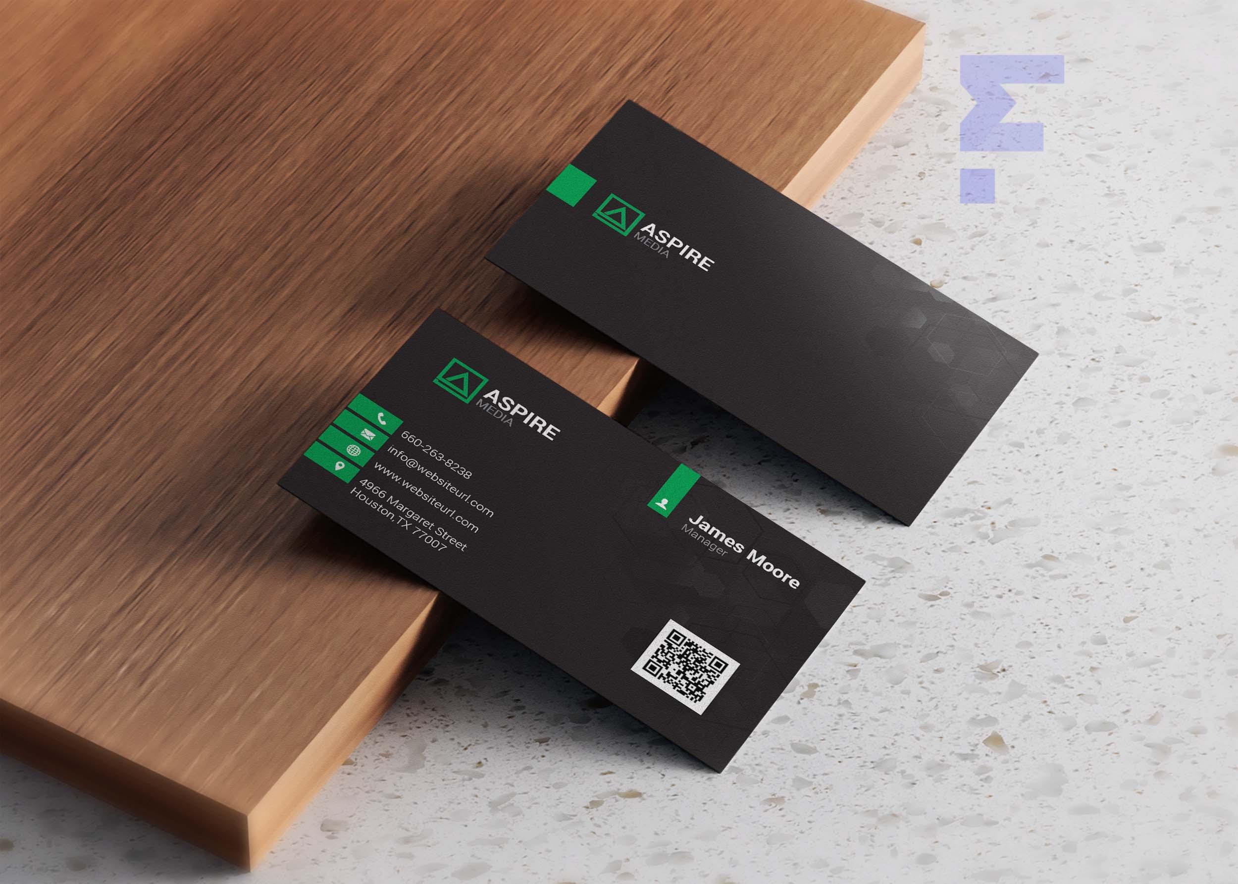 3D Visiting Card Design PSD