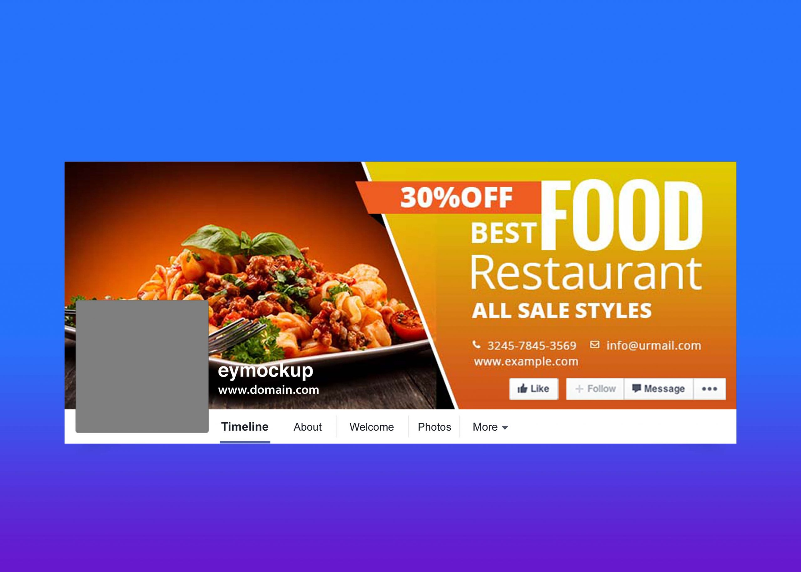 Free Food Facebook Cover Design