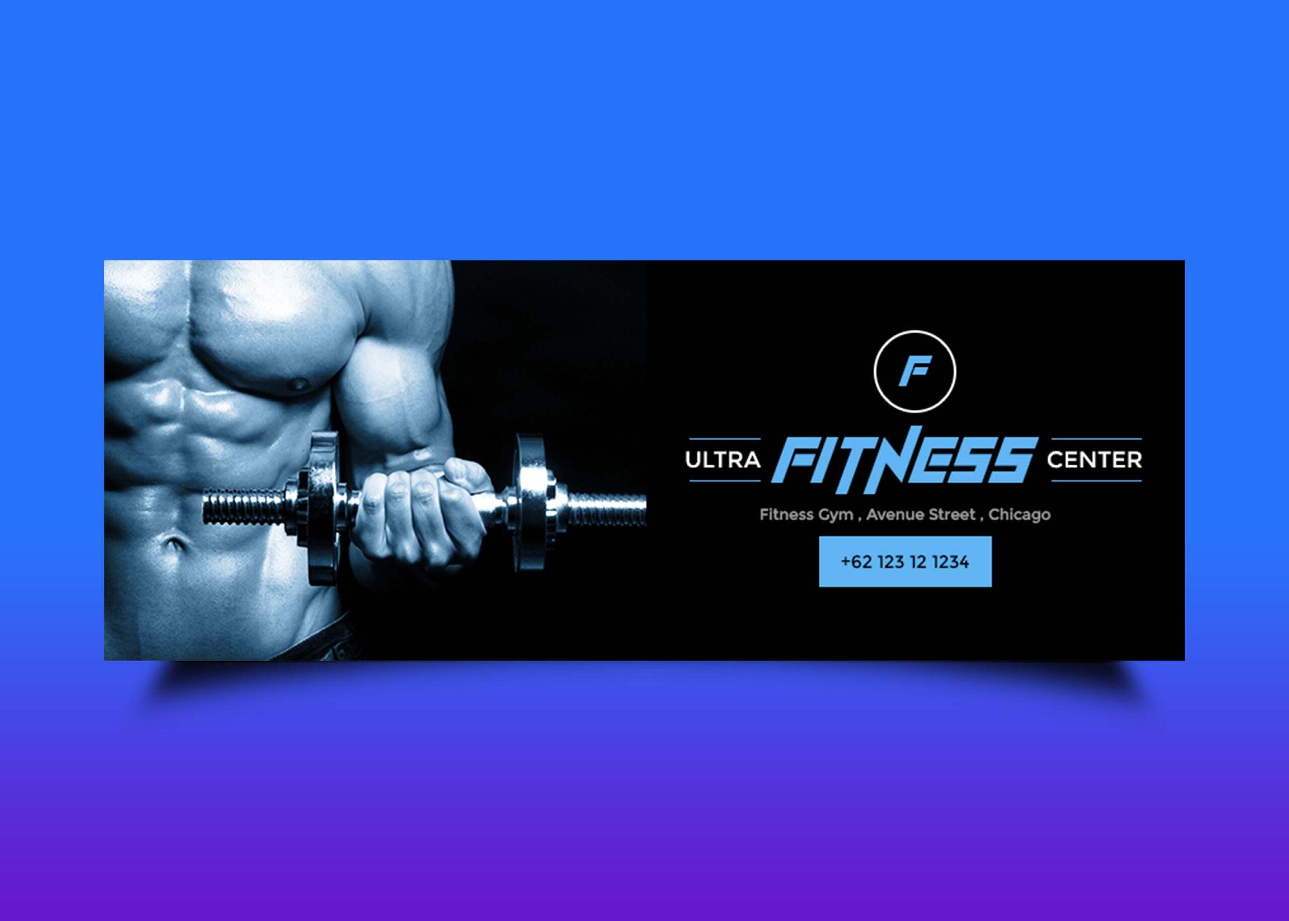 Free Gym Facebook PSD Design