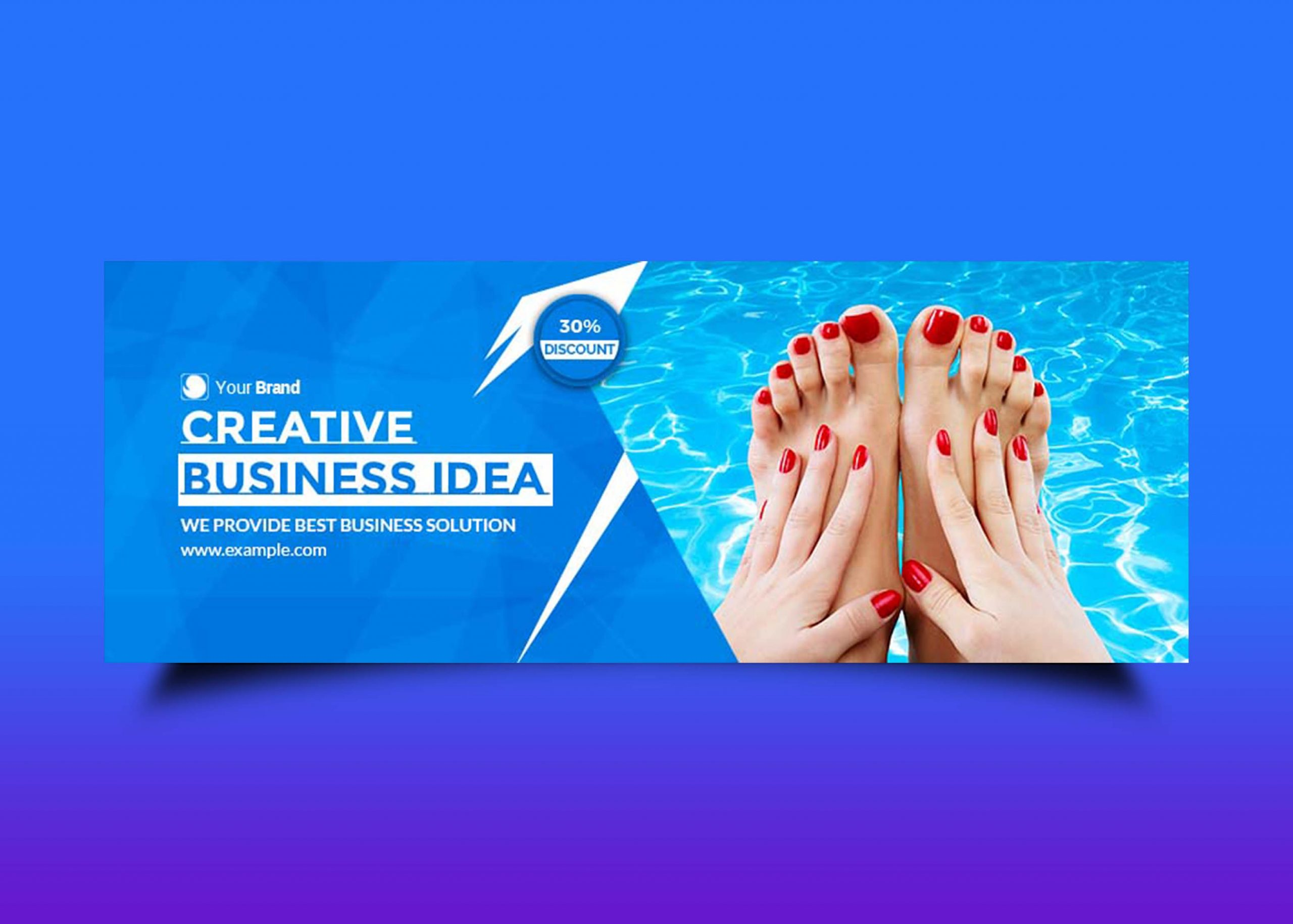 Free Swimming Facebook Page Design
