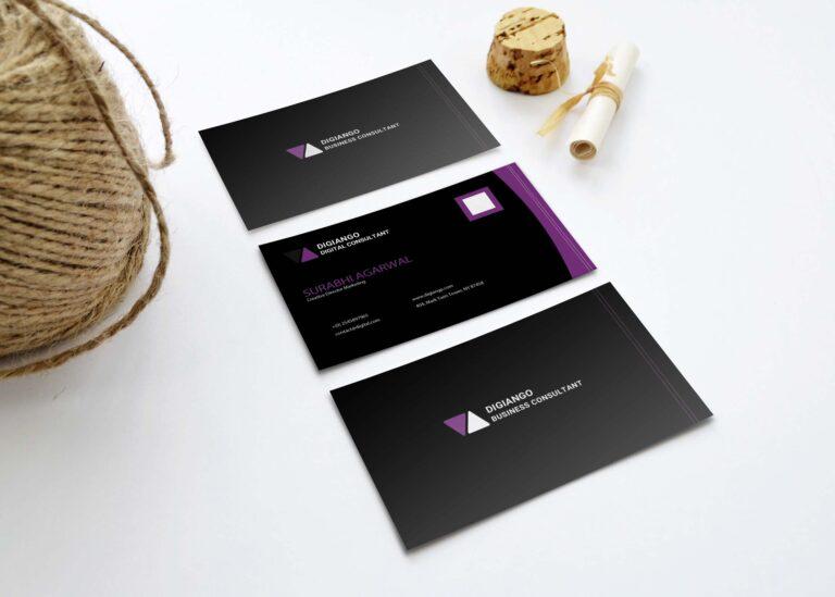 Free Black N Purple Business Card Design