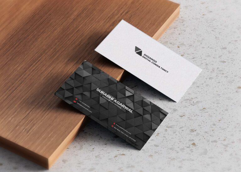 Free Black Pattern Business Card Design