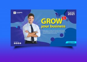 Free Business Growing Youtube Banner