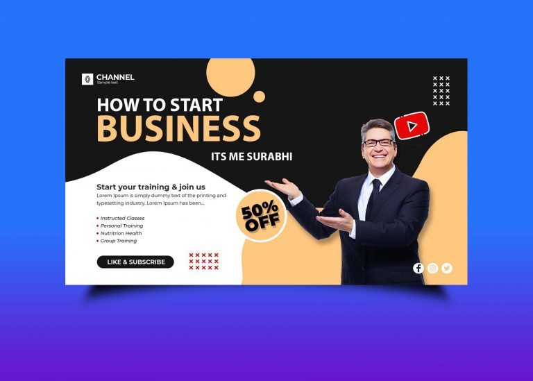 Free Business Startup Youtube Banner