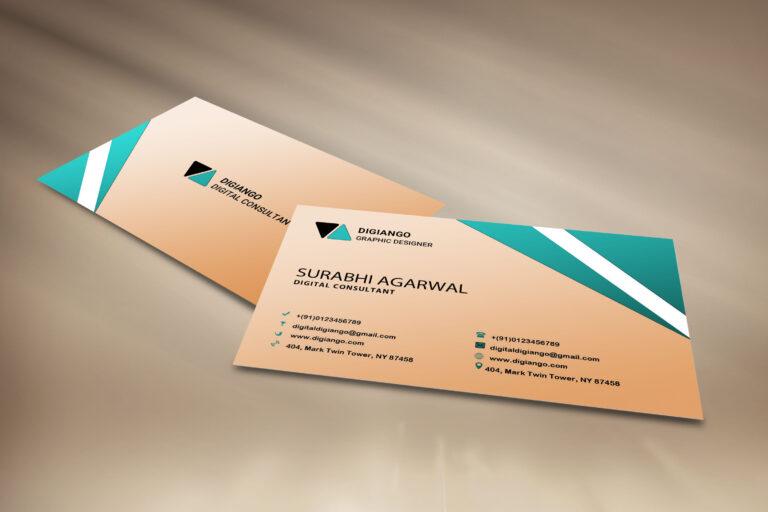Free Cream Business Card Design