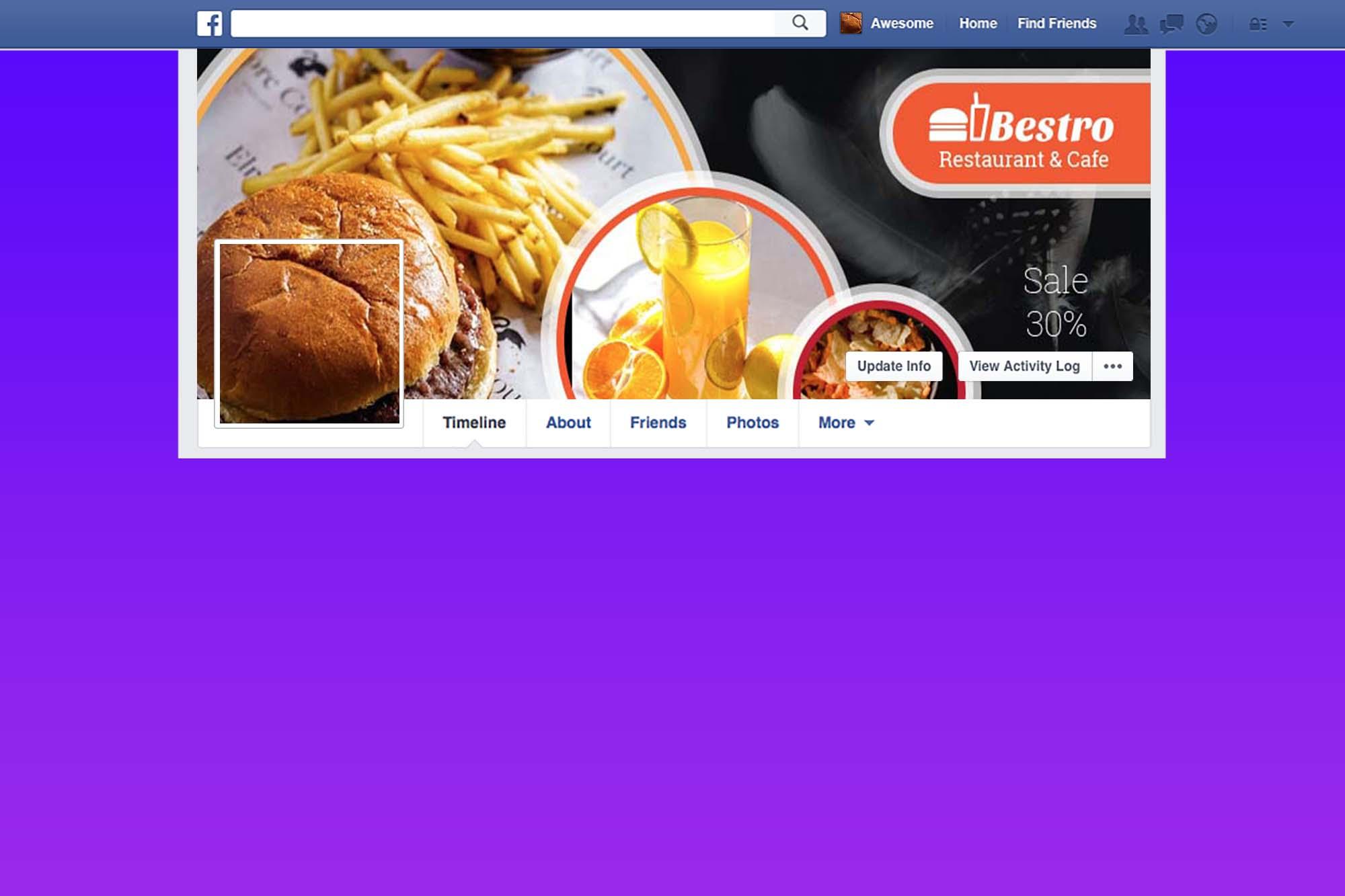 Free Creative Food FB Cover