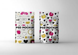 New Pouch Label PSD Mockups
