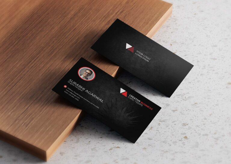 Free Elegant Black Business Card