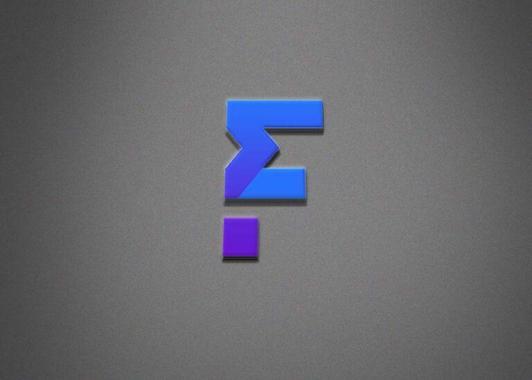 Free F Letter 3D Logo Mockup