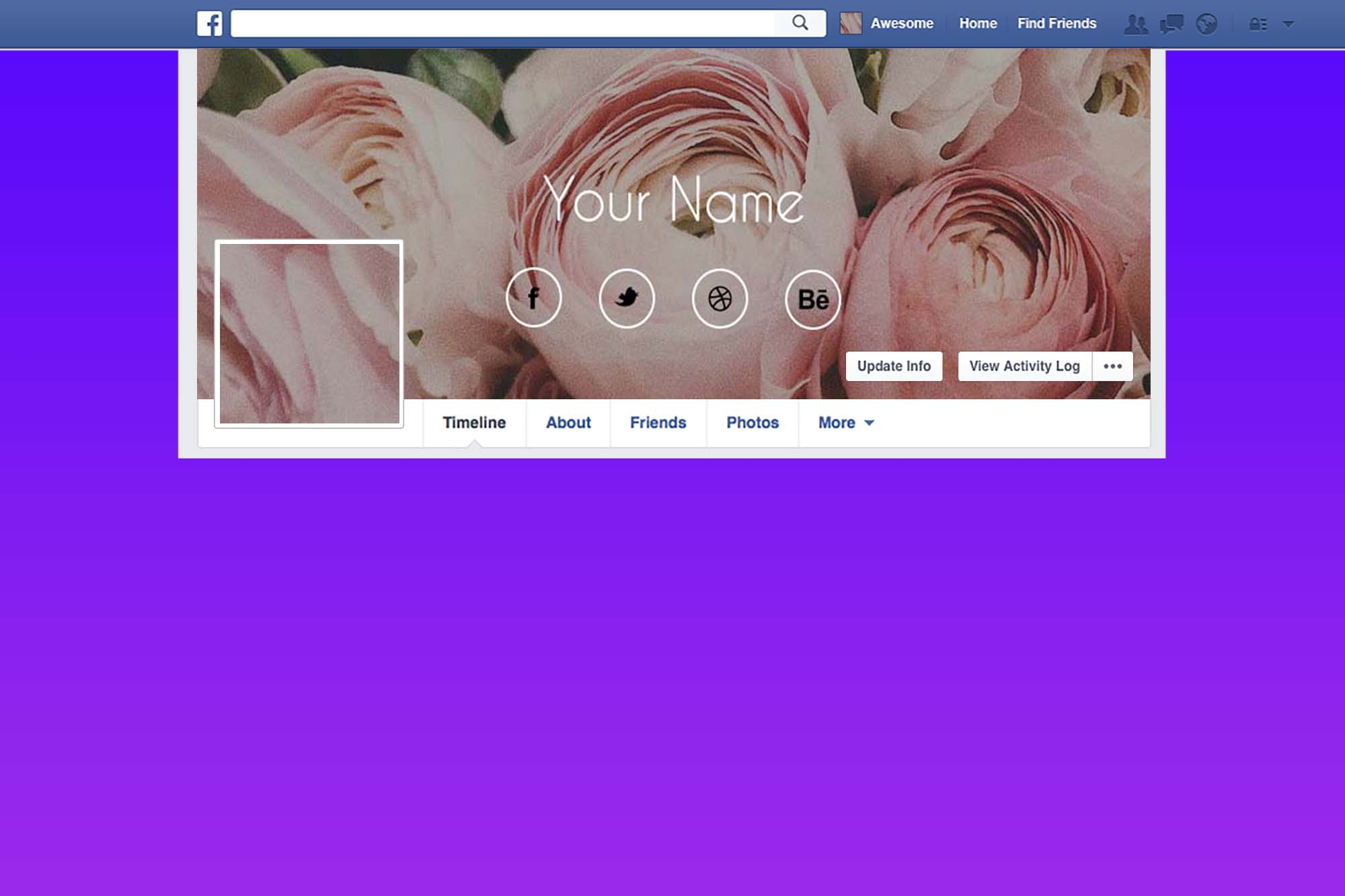 Free Flower Shop FB Page Cover Design
