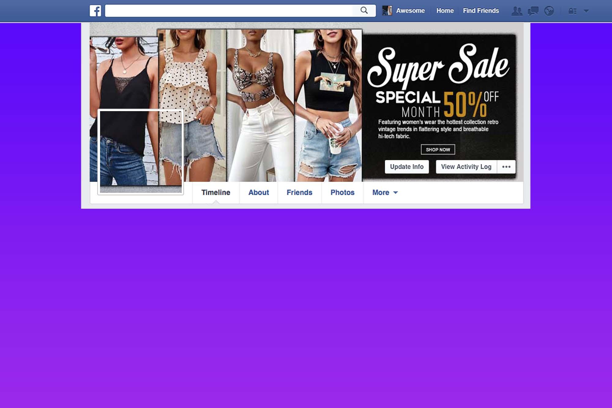 Free Fashion Store Facebook Cover Design