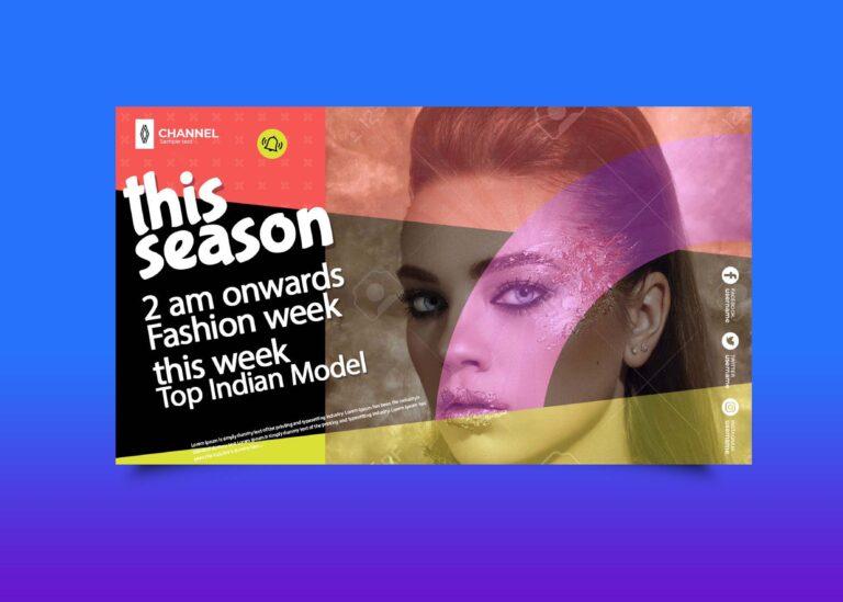 Free Fashion Week Youtube Banner