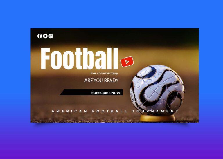 Free Football Championship Youtube Banner