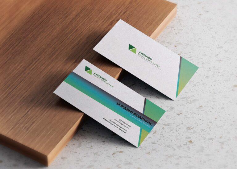 Free Grass Green Business Card Design