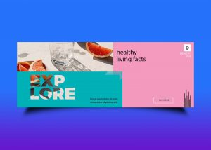 Free Healthy Facts Fb Cover Design