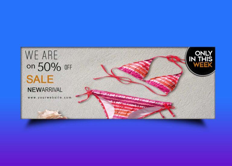 Free Lingerie Sale Social Media Cover Template