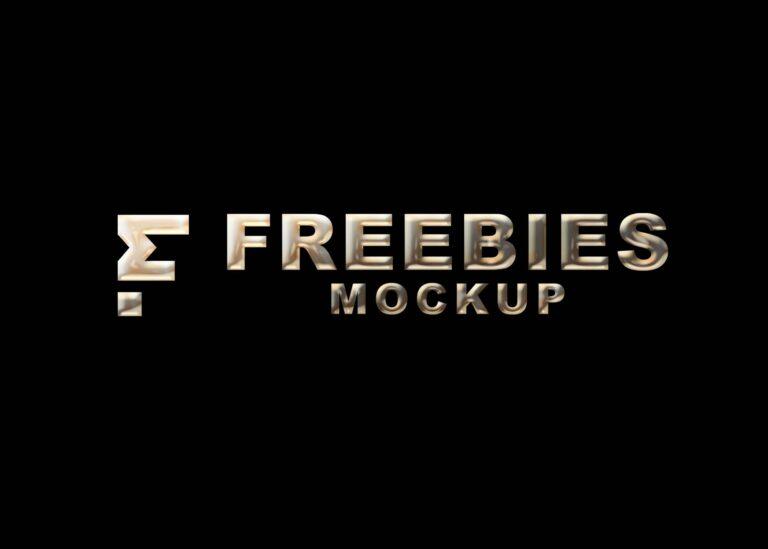 Free Liquid 3D Logo Mockup