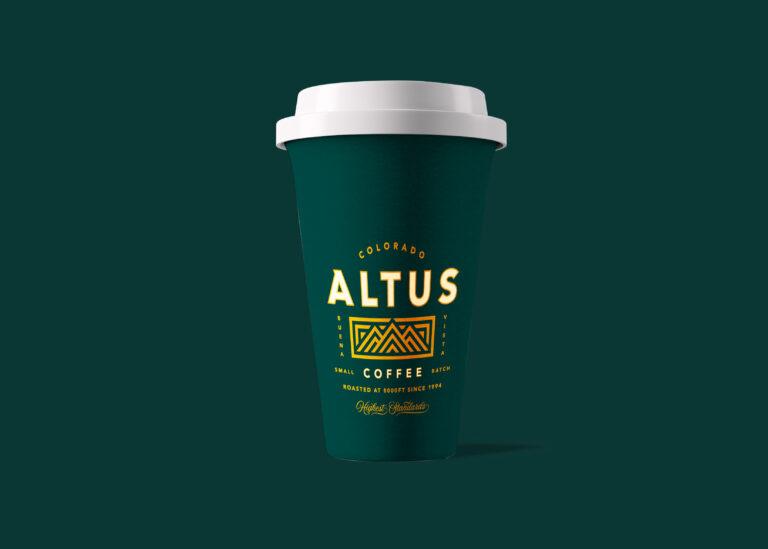 Premium Coffee Paper Cup Mockup