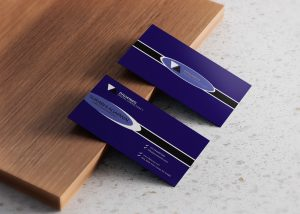 Free Navy Business Card design