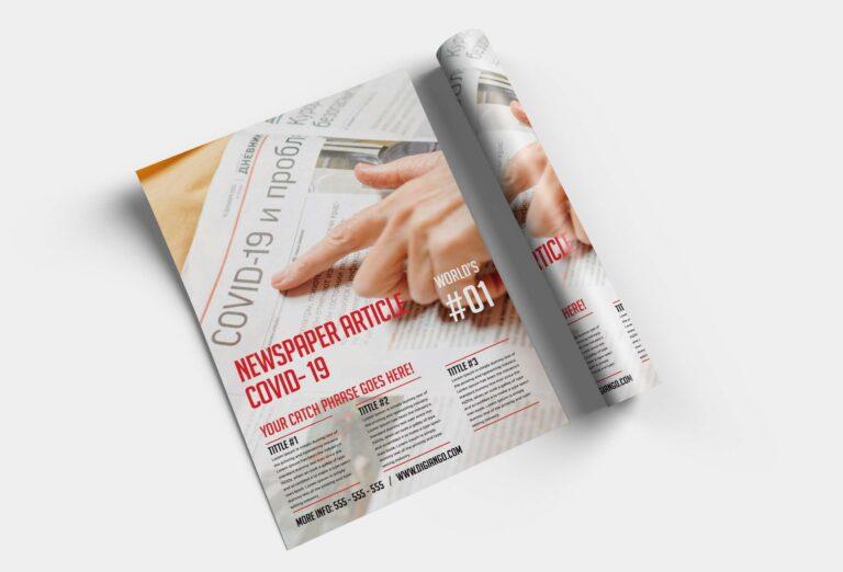 Free Newspaper Poster Design