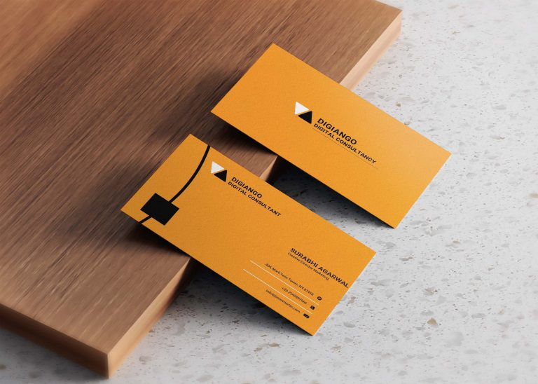 Free Orange & black Business Card Design