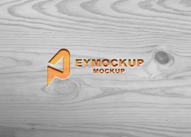 Free Plastic 3D Logo Mockup
