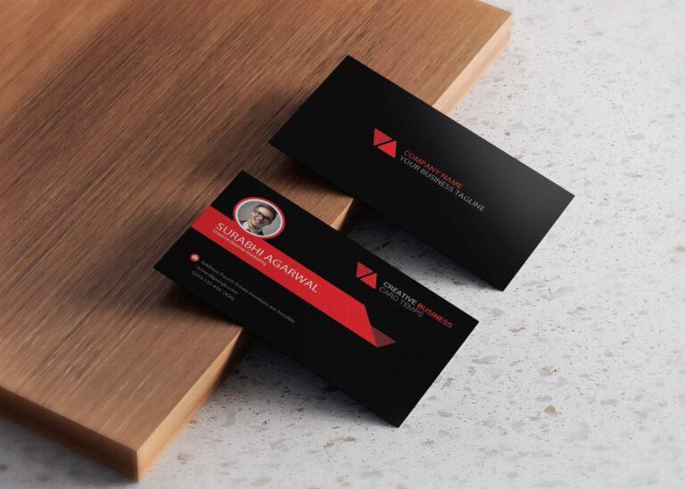 Free Premium Black Business Card Design